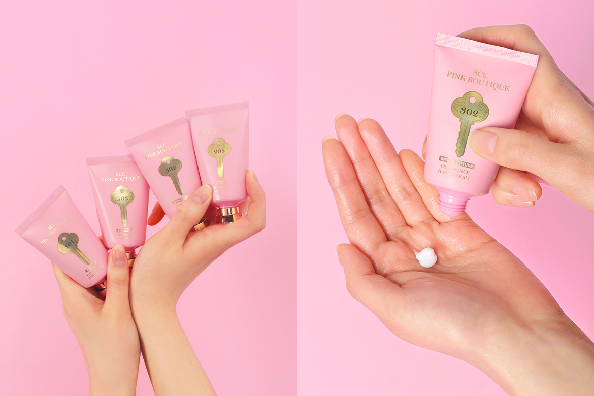 3CE PINK BOUTIQUE FRAGRANCE HAND CREAM