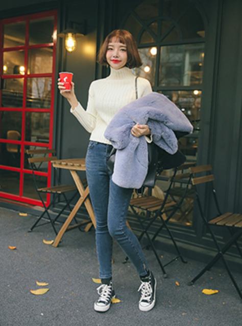 큐피드의 골지요정 하이넥 니트12월 15일부터 순차 배송가능!!