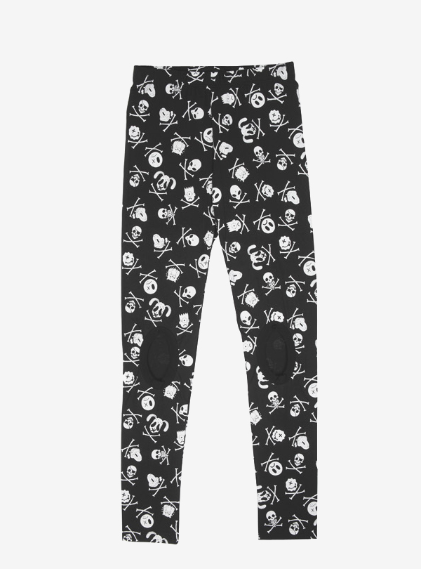FACES PRINT LEGGINGS-B